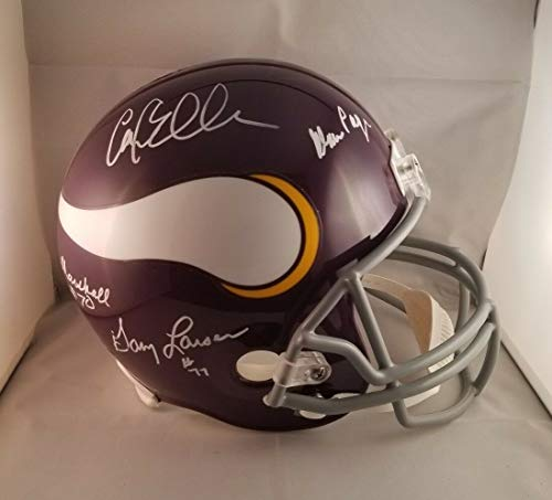 (Purple People Eaters Autographed Signed Full Size Helmet Minnesota Vikings JSA - Authentic Memorabilia)