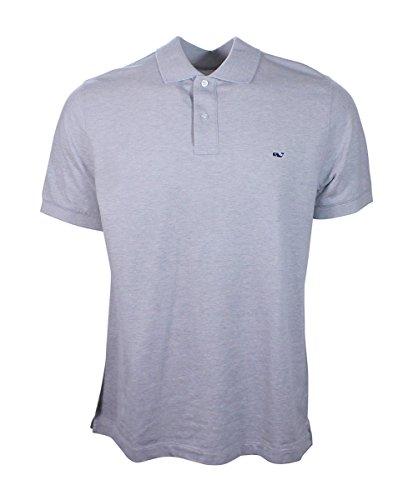 Vineyard Vines Mens Slim Fit Pique Short Sleeve Polo Shirt (Gray Heather, Small) from Vineyard Vines