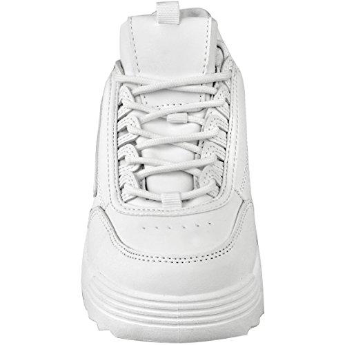 Zapatos Mujer Sint Blanco Grueso Piel Negros Zapatillas Gimnasio Deporte Zapatillas Fashion EN Retro Disruptor Blanco heelberry Thirsty qaF6Ewv