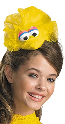 Oscar The Grouch Headband (Disguise Women's Sesame Street Big Bird Adult Headband Costume Accessory, Yellow, One)