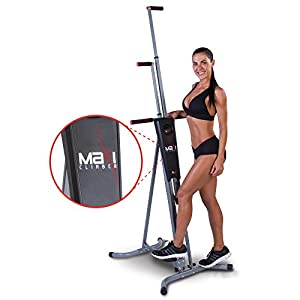 MaxiClimber(r) – The Original Patented Vertical Climber, As Seen On TV – Full Body Workout with Bonus Fitness App for iOS and Android