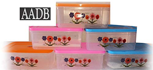 Bharat Sales AADB Bread Box Container (Big) Color (MDay Very) (Set of 6 PCs)