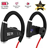 All-New 2019 Bluetooth Headphones w/ 12+ Hours Battery - Best Workout Wireless Sport Earphones w/Mic - IPX7 Waterproof Music Earbuds for Gym Running
