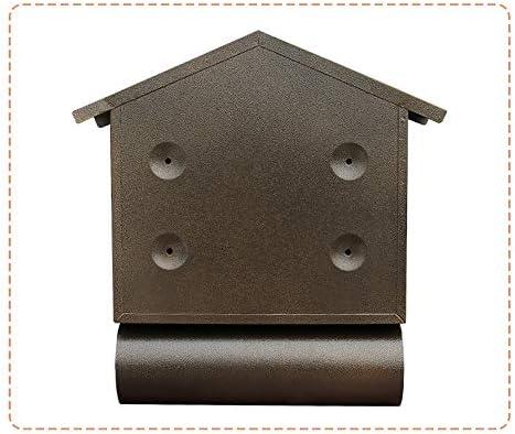 ロック可能なウォールは、メールボックス亜鉛メッキメタルヴィンテージ住宅のメールボックスヘビーデューティ全天候レターボックスをマウント ポストボックス (Color : Black, Size : 31x9.5x40.5cm)