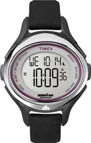 Timex Women's T5K5009J All Day 50-Lap Ironman Oval Case Silicone Strap Watch