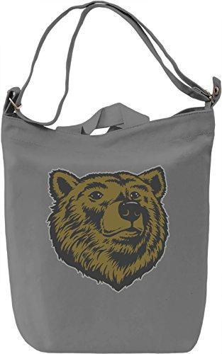 Bear head Borsa Giornaliera Canvas Canvas Day Bag| 100% Premium Cotton Canvas| DTG Printing|