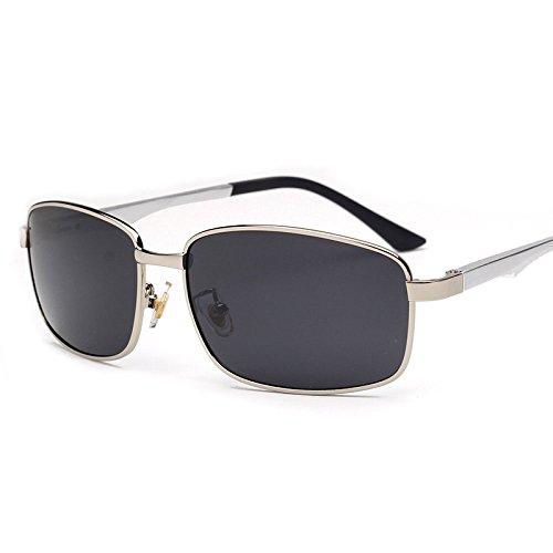 Sol Polarizadas Unisex De UV400 Sol De Gafas Con Polarizadas Silvergray UV400 Gafas OXax0R