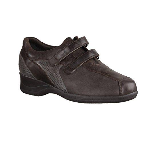 X sensible Lucia 100272802 - Zapatos cómodos / relleno suelto Zapatos mujer Cómodo Bailarina / Mocasines, Marrón, piel ceñida (muy elástica), altura de tacón: 30 mm