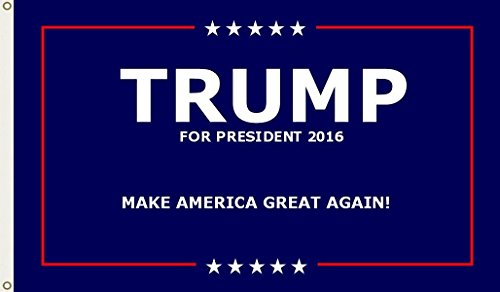 Shoe String King SSK Donald Trump For President 2016 Flag And Flag Combo Sets – Large 3′ X 5′, Weather-Resistant Polyester