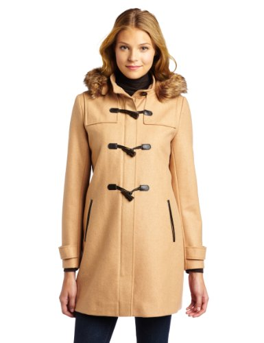 Tommy Hilfiger Toggle (Tommy Hilfiger Women's Hooded Toggle Coat, Camel, 16)