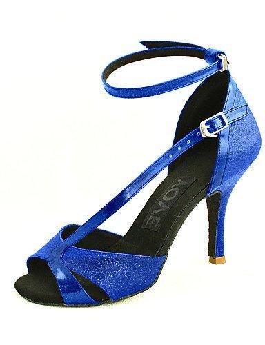 Delle Donne Tacco Personalizzabile Personalizzato Blu Shangyi Salsa Oro Scarpe Nero Similpelle Ballo Latino Oro Argento Rosso Da cABWqWRp
