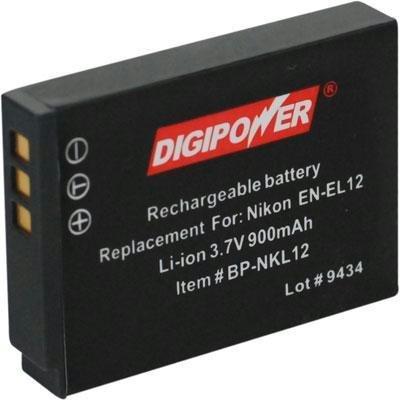 Digipower BP-NKL12 NIKON EN-EL12 REPLACEMENT LI-ION BATTE...