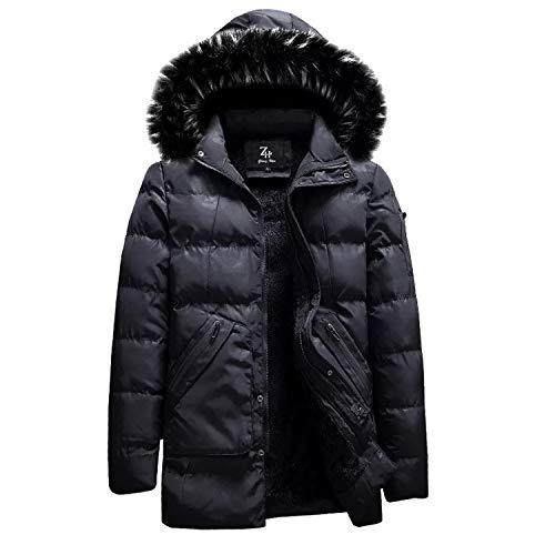 Poliestere Impermeabile In Cappuccio Cappotto Cotone Cerniera Con Black4 Uomo Outdoor Giacca Caldo Invernale E Da Piumino Mookey qwZHUvU
