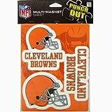Cleveland Browns NFL Multi Magnet Sheet 3 Magnets