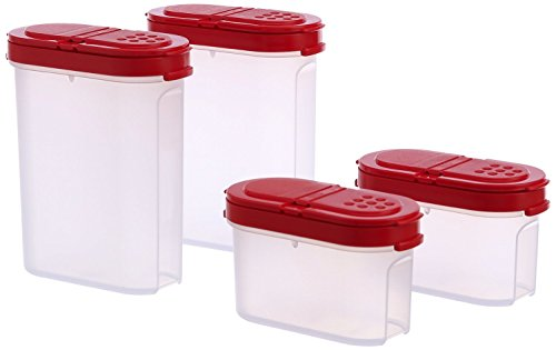 TP-540-T128 Tupperware Modular Spice Shakers Set of 4 (Tupperware Containers Spice)