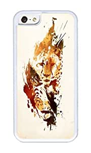 Apple Iphone 5C Case,WENJORS Uncommon El Guepardo Soft Case Protective Shell Cell Phone Cover For Apple Iphone 5C - TPU White