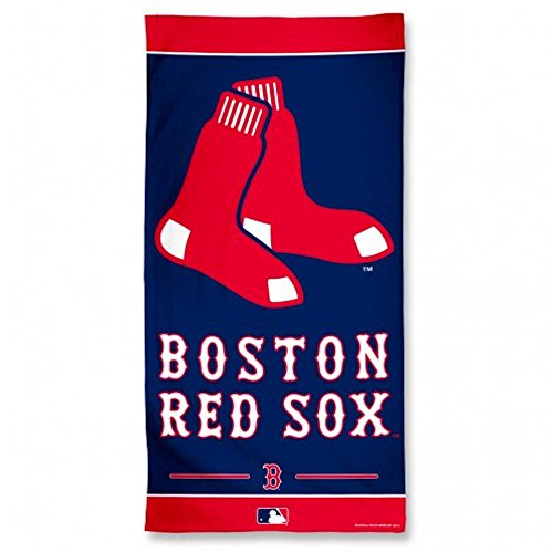 - WinCraft MLB Boston Red Sox Fiber Beach Towel, 9lb/30 x 60