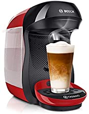 Bosch TAS1003 Kapsel Kaffemaskin, 1400W, Svart, Röd