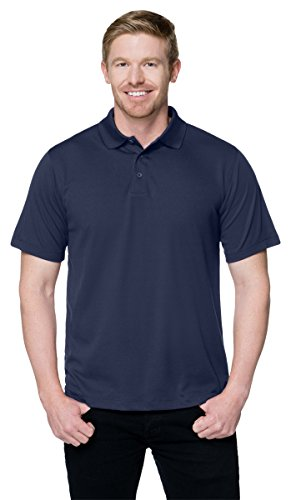 Tri Mountain Mens Peak Performers Mini Pique Polo Navy 3Xlt