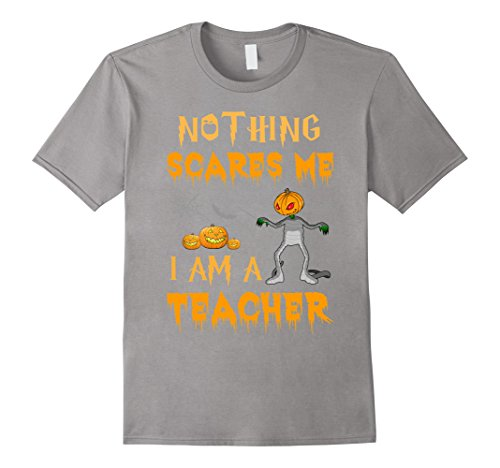 Mens Halloween Nothing Scares Me I'm A Teacher T-Shirt Medium Slate (Best Halloween Costumes For College Guys)