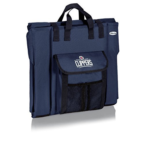 NBA Los Angeles Clippers Portable Stadium Seat, Navy by Picnic Time by PICNIC TIME