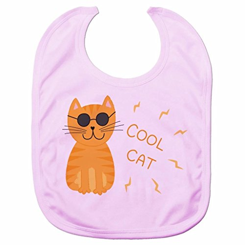 Price comparison product image Cute Cool Cat Baby Bib Fun Cartoon Animal Baby Clothes