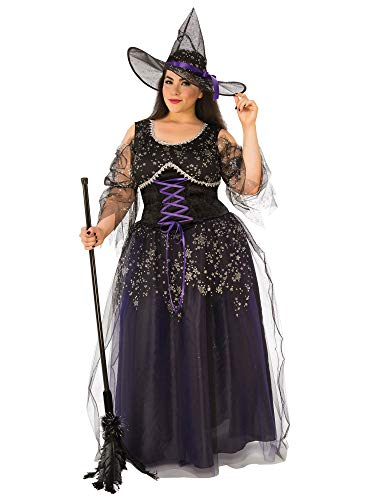 Rubie's Costume Co Women's Plus Midnight Witch, As Shown, Plus Size