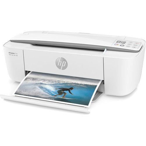 HP DeskJet 3755 All-in-One Printer in White and Stone Gray (Certified Refurbished)