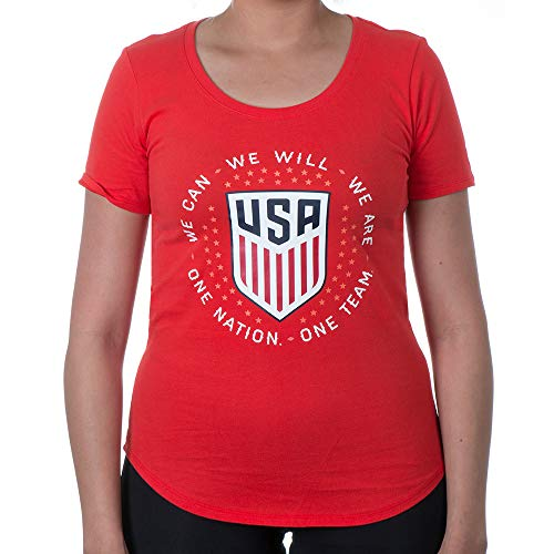 (Nike Women's USA National Team Pride T-Shirt (Challenge Red) (Large) )