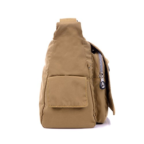 Womens Cross TianHengYi Green Sports Bag Bag Messenger body Nylon Multiple Pockets Zipper Shoulder Fabric Light gYTrdnTWqw