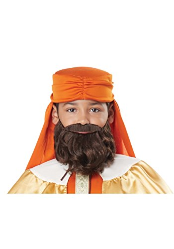 Wise Man Beard & Moustache - Child Brown ()