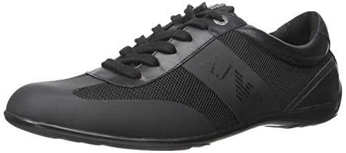 Armani Jeans Men's City Sneaker Fashion Sneaker, Black,41 EU /7.5 M US (Shoes Armani Men Jeans)