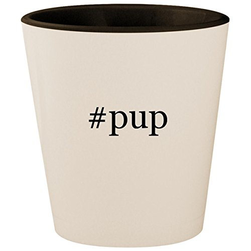 #pup - Hashtag White Outer & Black Inner Ceramic 1.5oz Shot Glass ()