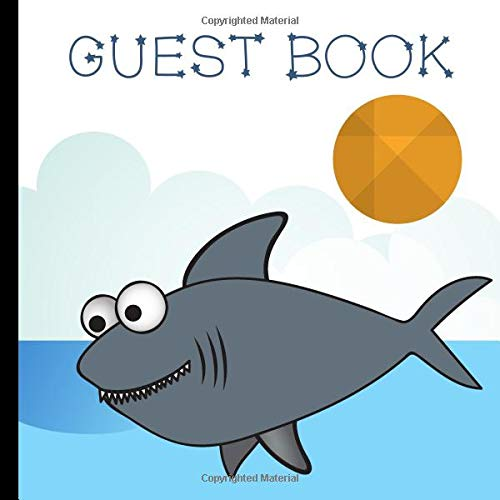 Guest Book: Baby Shark Party Guest Book Includes Gift Tracker and