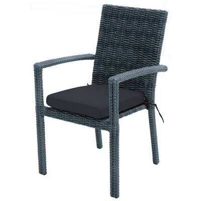 Ploß Outdoor furniture Stapelsessel, Swinging, grau/braun, 61x56x92 cm, 0,0532 ml, 7200217