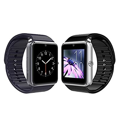 Bluetooth Smart Watch with Camera and Waterproof Wristwatch Phone for Android and IOS Smartphone¡­