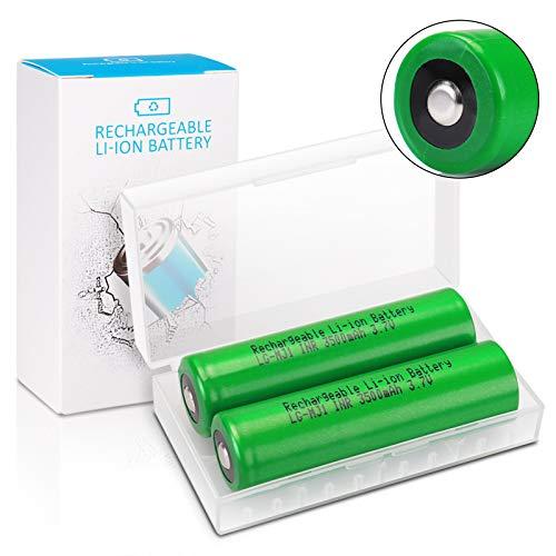 18650 Akku, Keenstone 2 Stücke 3500mAh 3,7V Wiederaufladbarer Batterie Li-Ionen Button Top Akku für LED-Taschenlampe, Ferngesteuertes elektronisches Spielzeug, Mikrofon-[Nicht für E-Zigaretten]