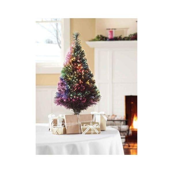 32-Green-Fiber-Optic-Color-Changing-Artificial-Christmas-Tree-LED-Lights