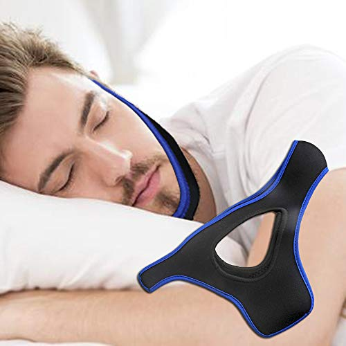 Anti Snore Chin Strap to Help Good Sleep - Snore Stopper Sleep Aids Solution - Adjustable Stop Snoring Device for Men Women (BlueTriangle) from pashanxxr
