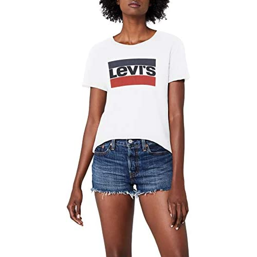 chollos oferta descuentos barato Levi s The Perfect Tee Camiseta para Mujer Blanco White 297 Large