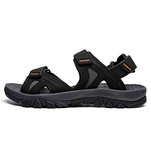 Stay With Me Men Sandals New Leather Cowhide Male Summer Sandals Shoes Outdoor Beach Slippers Casual Sandals Sandalen,Black,7 -