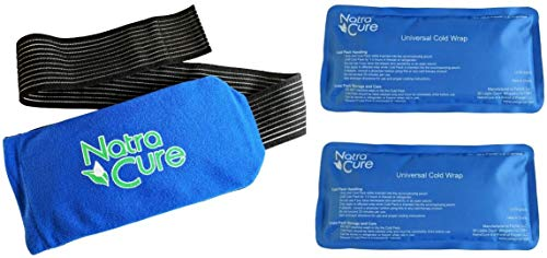 NatraCure Universal Cold Pack Ice Wrap - 2 Ice Packs w/ 1 Pouch - (5