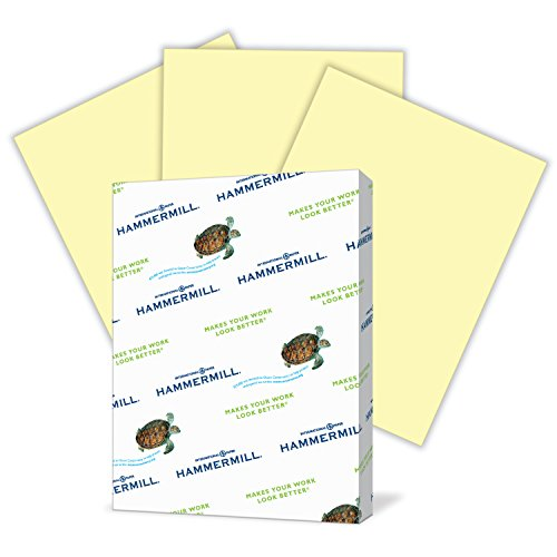 - Hammermill Colored Paper, Canary Printer Paper, 20lb, 8.5x11 Paper, Letter Size, 500 Sheets / 1 Ream, Pastel Paper, Colorful Paper (103341R)