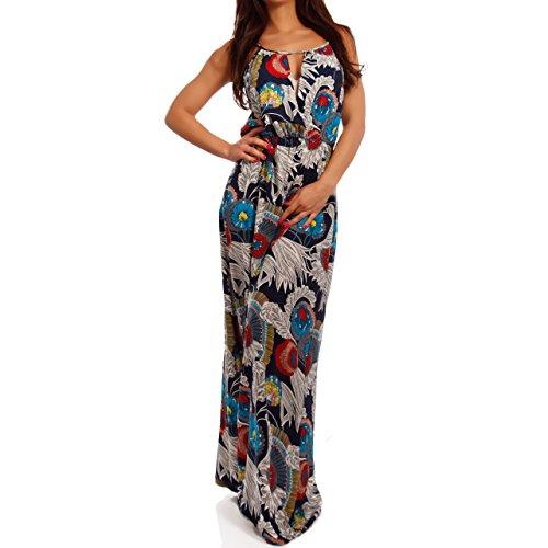 Young-Fashion - Vestido - Con cortes - Floral - Sin mangas - para mujer Mehrfarbig/Model15