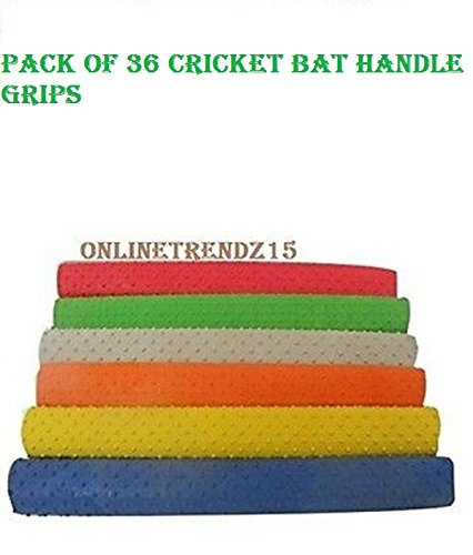 36 Pieces Bat Grip NEW Turbo Cricket Bat Grips 30 cm, BEST RUBBER HANDLE GRIP,TOP QUALITY,BEST FOR CRICKET LOVERS by ANMOL COLLECTIONS