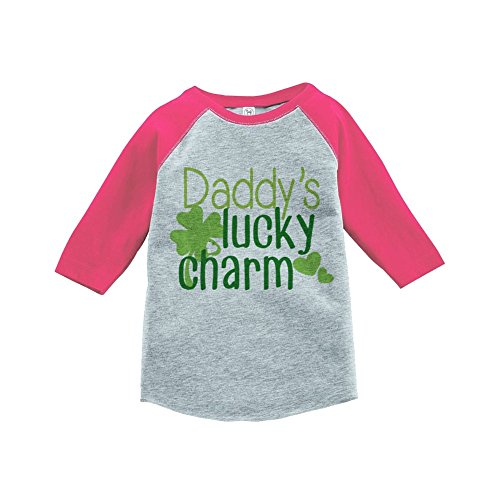 Custom Party Shop Girls' St. Patrick's Day Vintage Baseball Tee Small Pink and Grey (Kids Customs)