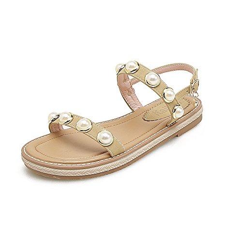 Casual Después Mezclarse De Rocío Sandalias Señor De Decorado Beige Perlas Con De Mujer Estudiante Zapatos Mujer GAOLIM Planas Hw71qS