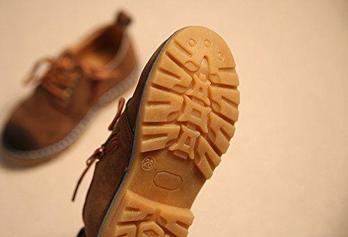 KVbaby Kinder Wildlederschuhe Oxford Schnürhalbschuhe Jungen Mädchen Haferlschuhe Wildleder Trachtenschuhe,Größe 21-36 Braun-1