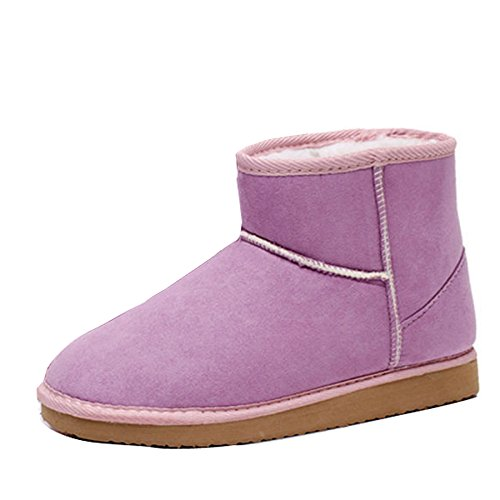 Fashion Warm 7 Gaorui Snow Popular Light 5 Shoes Women's New Suede Winter 5 Boots Faux Purple Soft wHrqXPOH