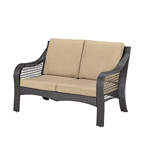 Home Styles 5804-60 Lanai Breeze Love Seat, Deep Brown and Gold Finish by Home Styles